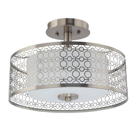 brushed nickel ceiling lights home decorators collection 1 light brushed nickel led semi