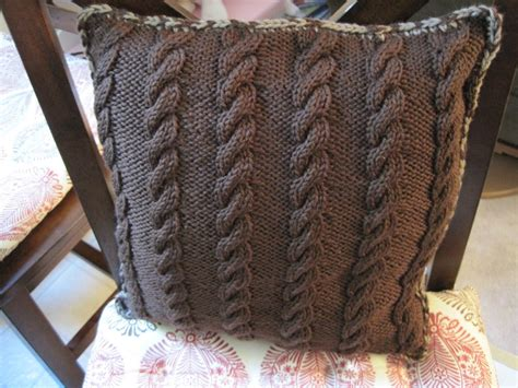 knitted bed throw pattern two sided throw pillow knitted side makerknit