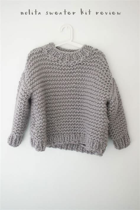 we are knitting we are knitters nolita sweater kit review