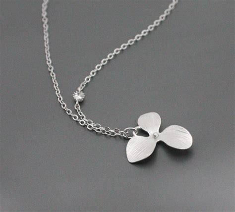 simple jewelry tiny orchid necklace with simple simple