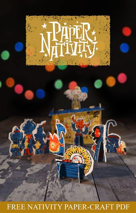 nativity paper craft free printable paper nativity craft money saving 174