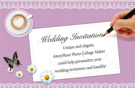 how to make invitation card how to create wedding invitation card amoyshare photo