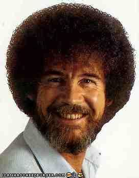 bob ross painting faces tll classics bob ross totally looks like a bichon frise