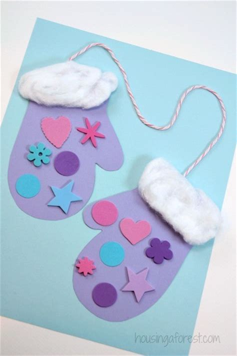 winter paper crafts for winter mitten craft for preschoolers housing a forest