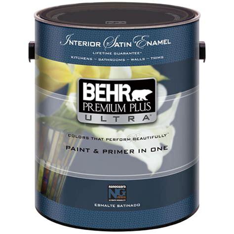 home depot paint one coat behr premium plus ultra 1 gal white satin interior
