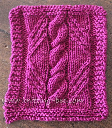 knitting design free cable in a knitting pattern panel created by