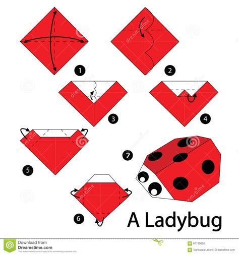 how to make a origami ladybug step by step how to make origami a ladybug