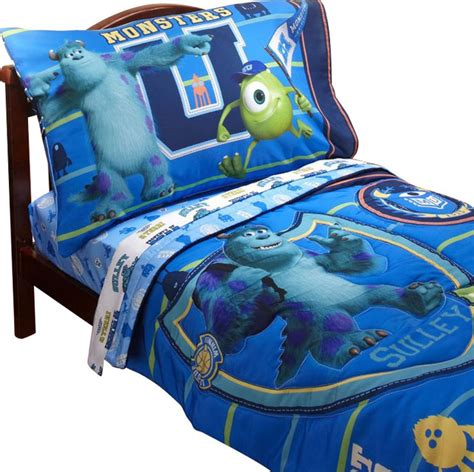 monsters toddler bedding set 4 comforter