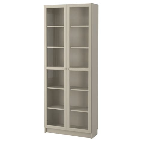 billy bookcase with glass doors billy bookcase with doors beige 80x30x202 cm ikea