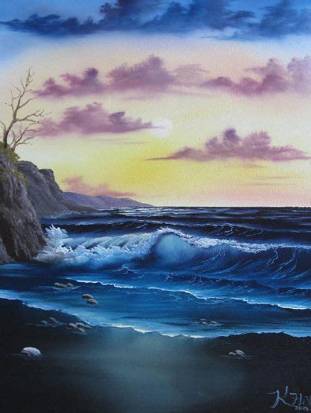 bob ross seascape paintings bob ross seascape sunset painting for sale