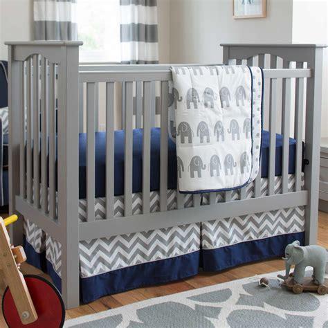 and navy crib bedding navy and gray elephants 3 crib bedding set