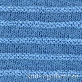 purl and knit stitch knit together purl stripes with needles and knitting