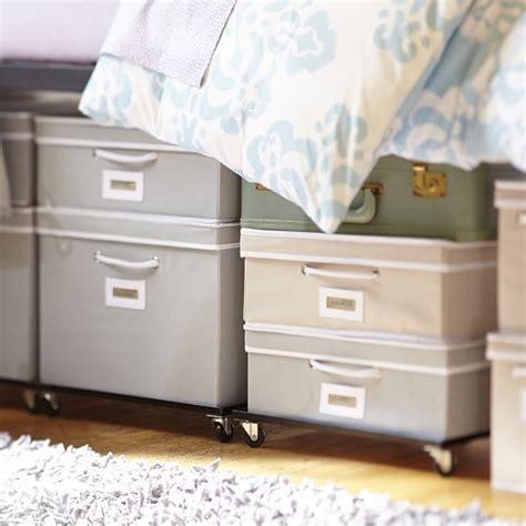 underbed storage bed frame rolling underbed storage frame pbteen