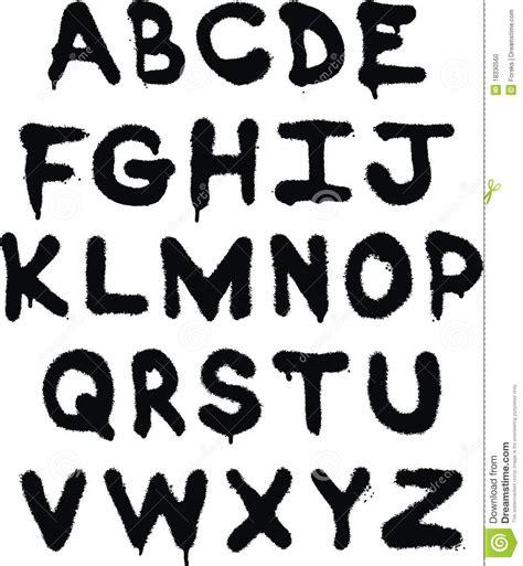 spray paint cursive font het alfabet graffiti vector illustratie afbeelding