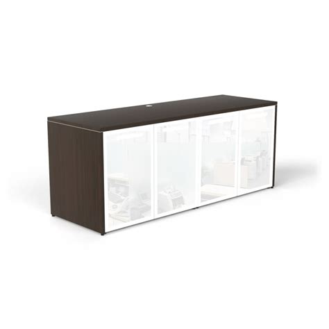credenza with glass doors - Credenza Glass Doors
