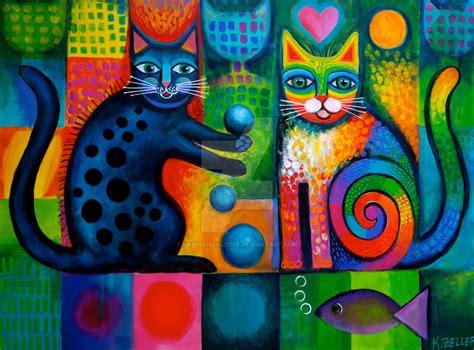 rainbow cat painting juggle puss and rainbow cat by karincharlotte on deviantart