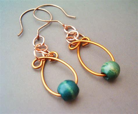 earrings with wire wire wrapped earrings by bleek70 on deviantart