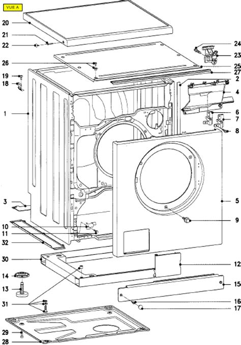 miele w 837 w837 lave linge t 233 l 233 charger pdf manuel pieces detachees anglais