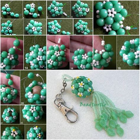 step by step how to make american beaded earrings how to make key chain charm step by step diy