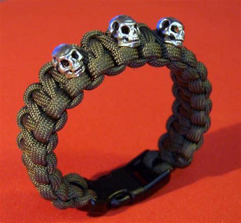 skull for paracord bracelets stormdrane s 3 skulls paracord bracelet