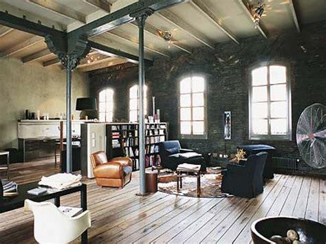 rustic industrial interior design industrial style