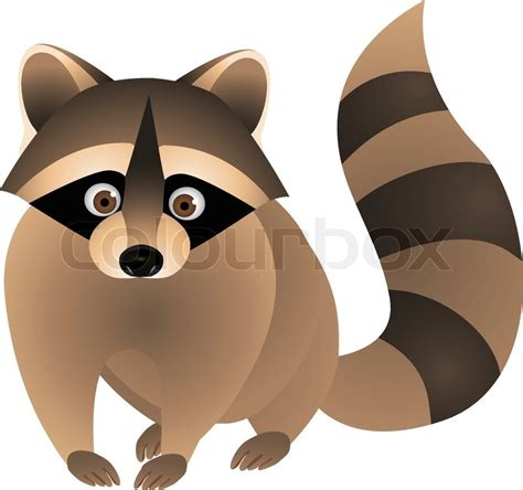 New Home Plans And Prices raccoon cartoon stock vector colourbox