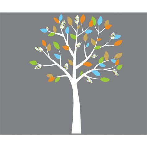 orange and blue tree orange and blue tree wall decals for for nursery or