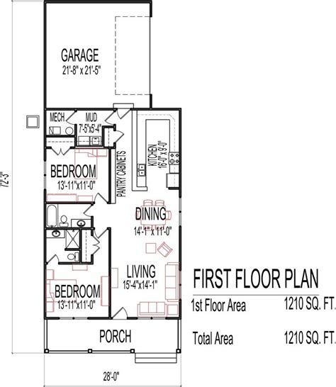 single story house plans 2500 sq ft small low cost economical 2 bedroom 2 bath 1200 sq ft
