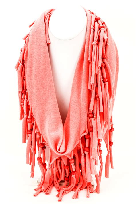beaded scarfs woven beaded knotted fringe scarf scarves