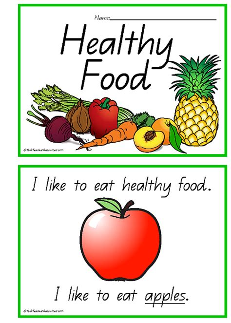 healthy picture books healthy food concept book printable healthy pyramid