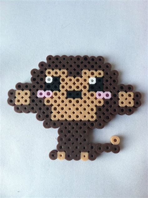the bead monkey perler bead kawaii monkey monkey perler