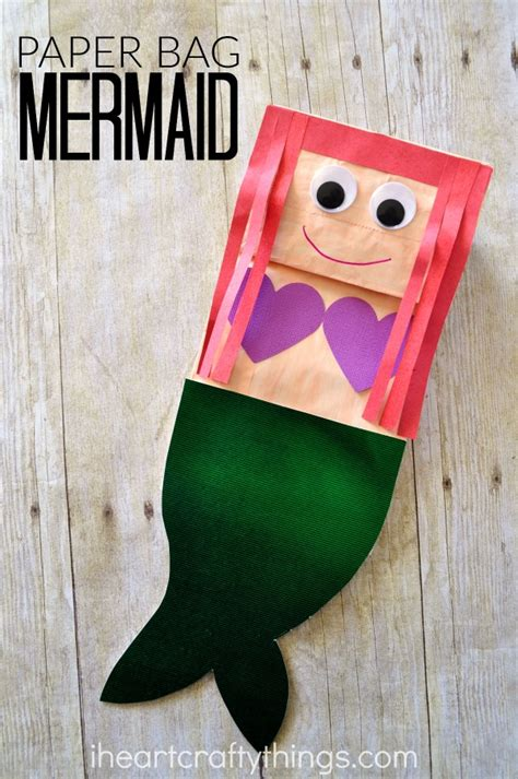 paper bag craft ideas for i crafty things paper bag mermaid craft for