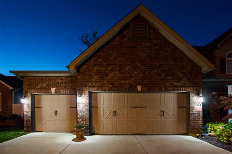 led house led garage driveway and house number lighting