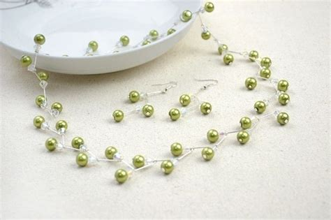jewelry ideas for jewelry crafts ideas adorable pearl necklace earring set