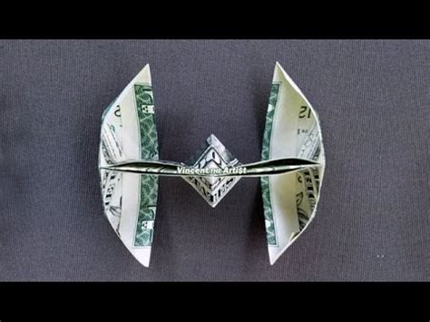 origami tie fighter wars tie fighter how to fold a dollar