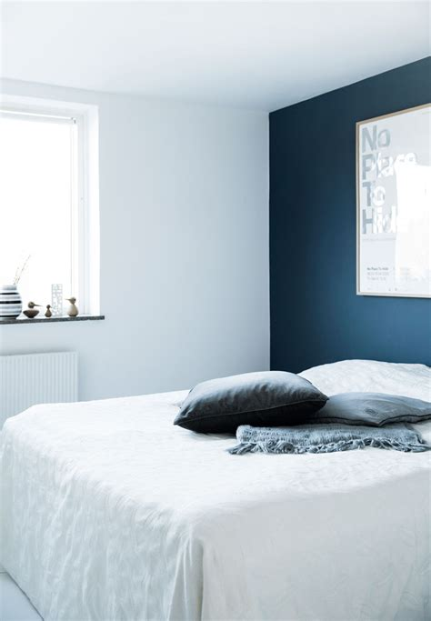 bedroom with blue walls decordots vintage meets modern in a apartment