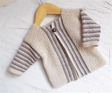 stripe patterns for knitting baby sideways knit cardigan with stripe pattern