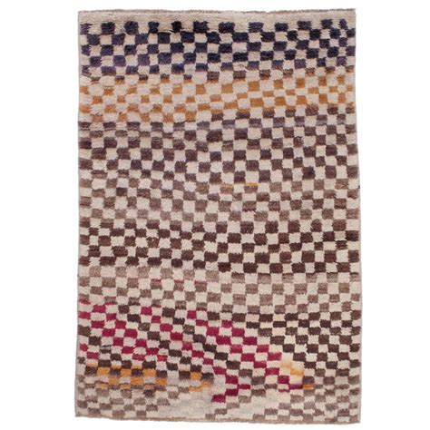 colorful checkerboard quot tulu quot rug for sale at 1stdibs