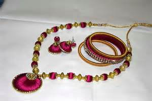 who makes jewelry silk thread jewelry
