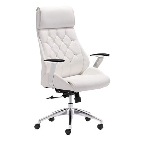 black and white desk chair zuo modern boutique office chair white 205891 modern