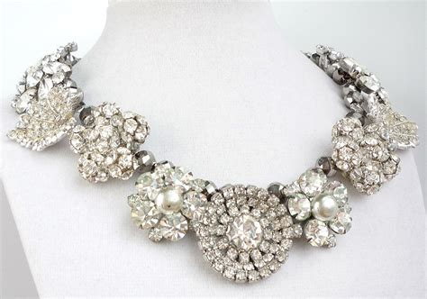 how to make rhinestone jewelry chunky wedding jewelry statement necklace rhinestones