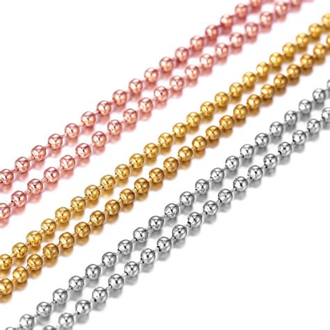bead chain wholesale 10 pcs wholesale silver gold gold bead chain