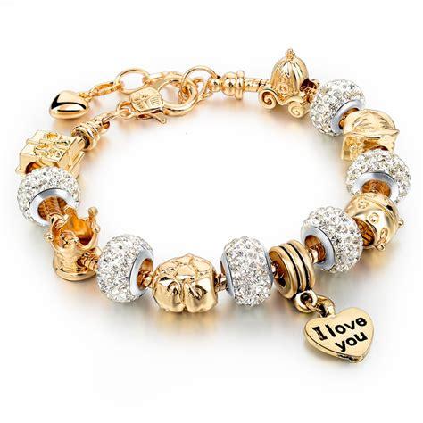 glass bead bracelets wholesale wholesale gold charm bracelets for diy glass