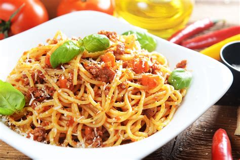 spaghettis a la bolognaise allegees