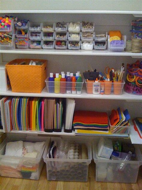 arts and crafts storage for and craft organisation and storage