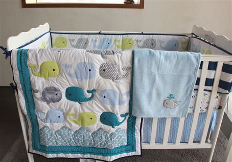 whale crib bedding sets selling baby bedding set embroidery 3d whale