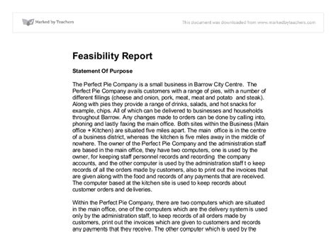 feasibility report a level ict marked by teachers com