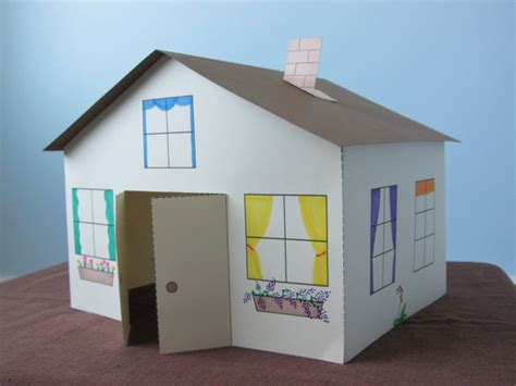 house craft for 3d paper house craft for instant template