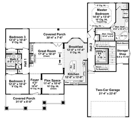 floor plans aflfpw76173 1 story craftsman home with craftsman style house plans 1816 square foot home 1