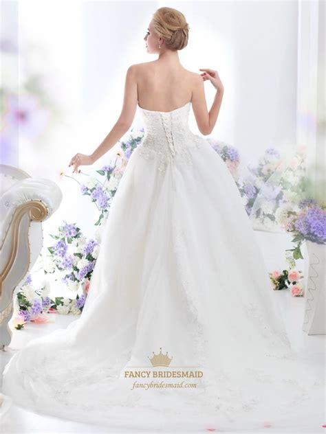 beaded ivory dress ivory strapless beaded tulle wedding dress with beaded